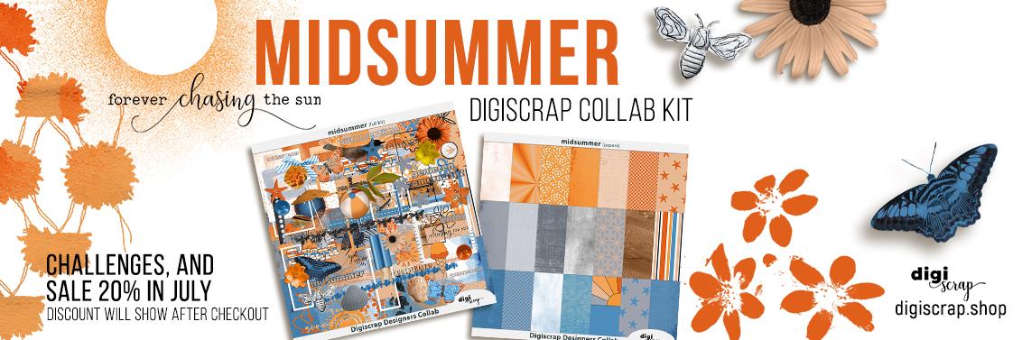 Digiscrap Digitaal scrappen - Digiscrap Collab - Midsummer