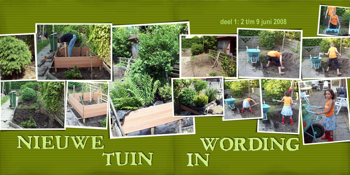 Digiscrap digitaal scrappen verandering tuin 1 - Lay outs deco tuin ...