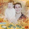 Vader en zoon beleven plezier