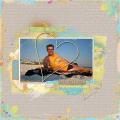 Robin op het strand van Fort Myers