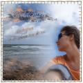 Gedachten verdwijnen op de golven van de zee