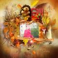 Rainbow of autumn colors