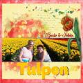 Mei 2018 - Geeske en Nelleke tussen de tulpen