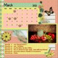 mijn  Maart 2022 verjaardagskalender lo