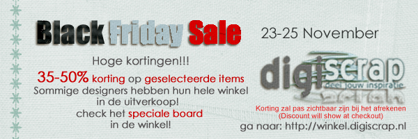 Black Friday Sale Digiscrap.nl